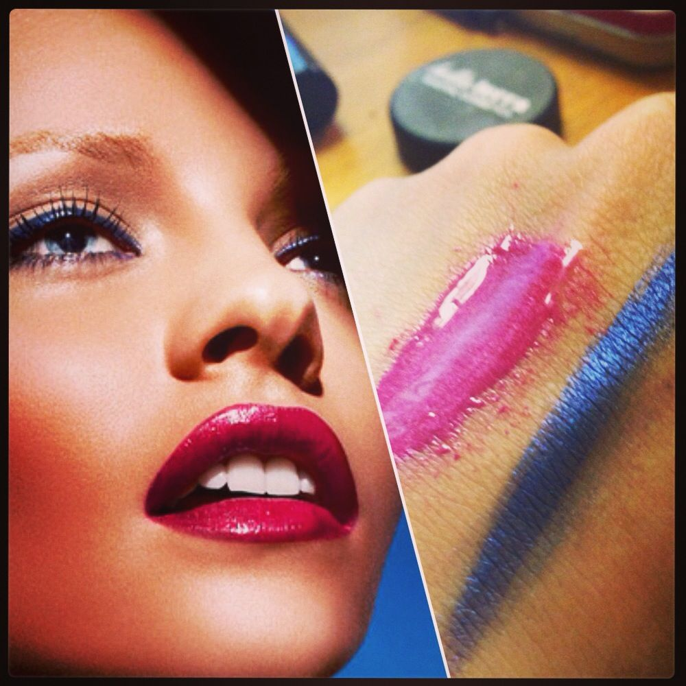 Get The Look using our #Navy & #HotPink Shimmers!  Shop on www.bellaterracosmetics.com