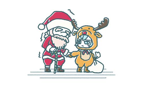 サンタとトナカイ