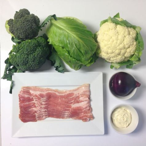 Salaatti nro 52 - Pietan amerikansalaatti-ainekset