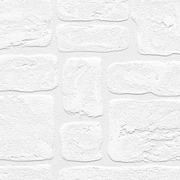 Andrew 33 X 21 Textured Paintable Bricks Rolls Wallpaper Textured Brick Wallpaper Paintable Wallpaper Manhattan Comfort
