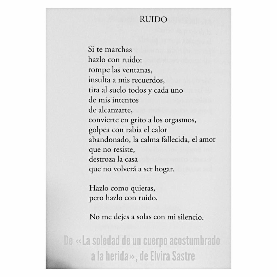 Hazlo Con Ruido Elvira Sastre Words Quotes Writing