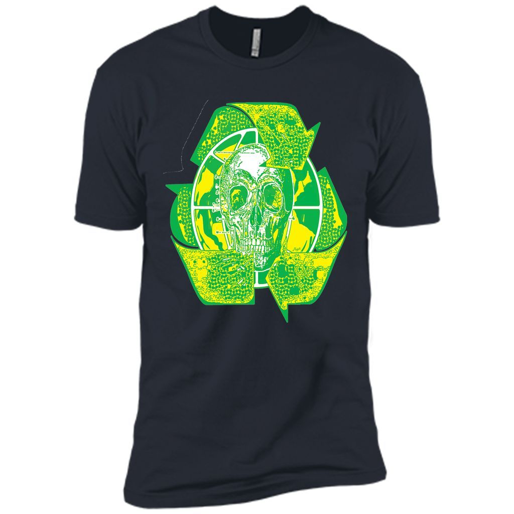 Earth Day Recycle Skull Symbol T Shirt Products Pinterest