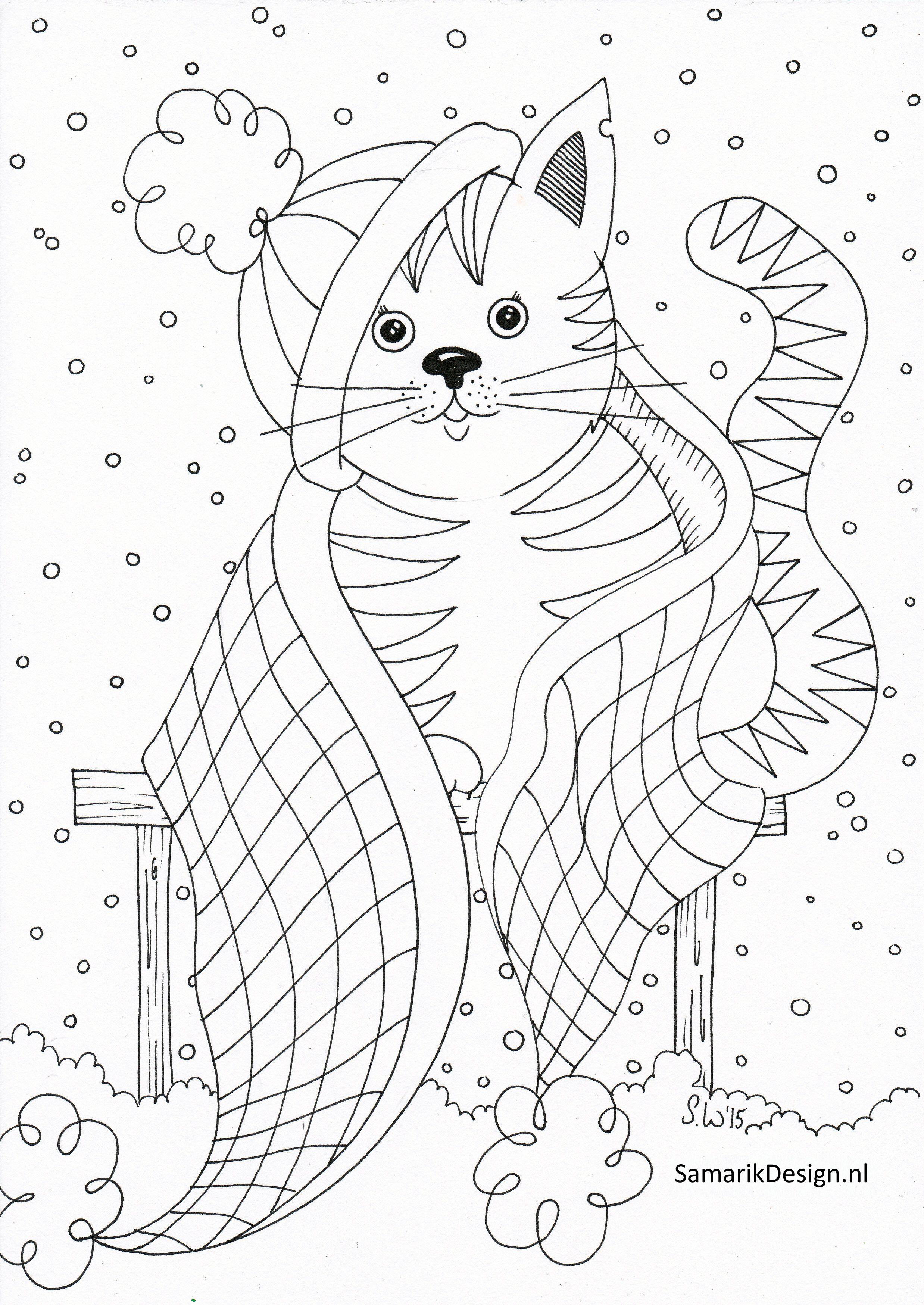Kleurplaat Voor Volwassenen Cat Cat Coloring Page Dog Coloring