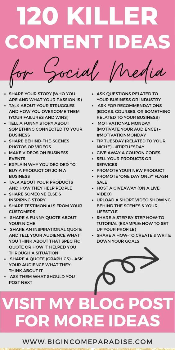 120 Killer Content Ideas for Social Media - Social