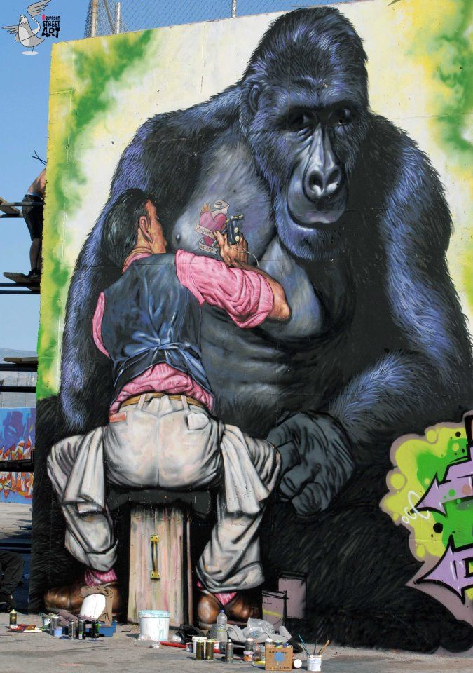 """WD-Mos Athens 2012, the tattoo reads """"Mother Nature"""""""
