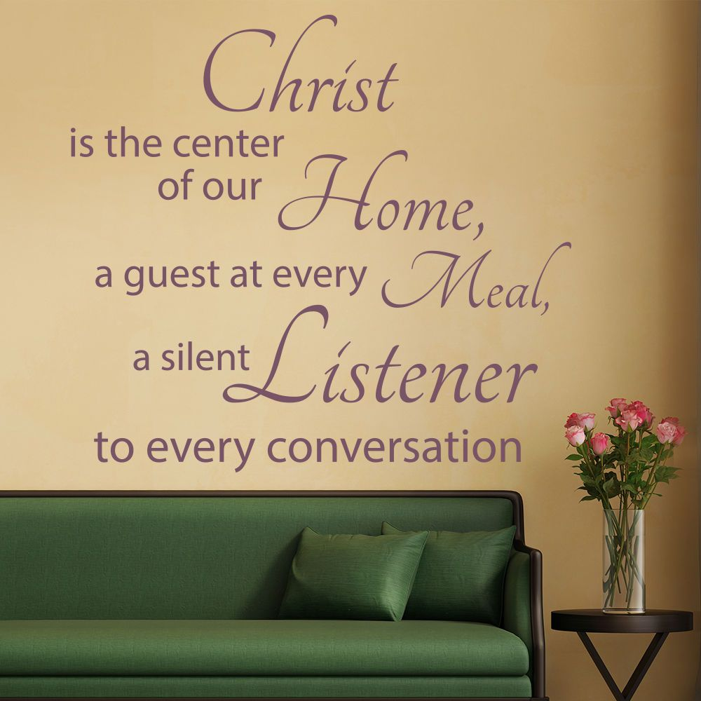 Christ Is The Centre Wall Sticker Bible Verse Wall Decal ...