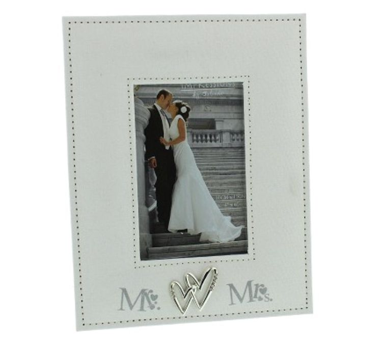 Mr. And Mrs. Linen Photo Frame 4x6 Print | Shop Online at Witney ...