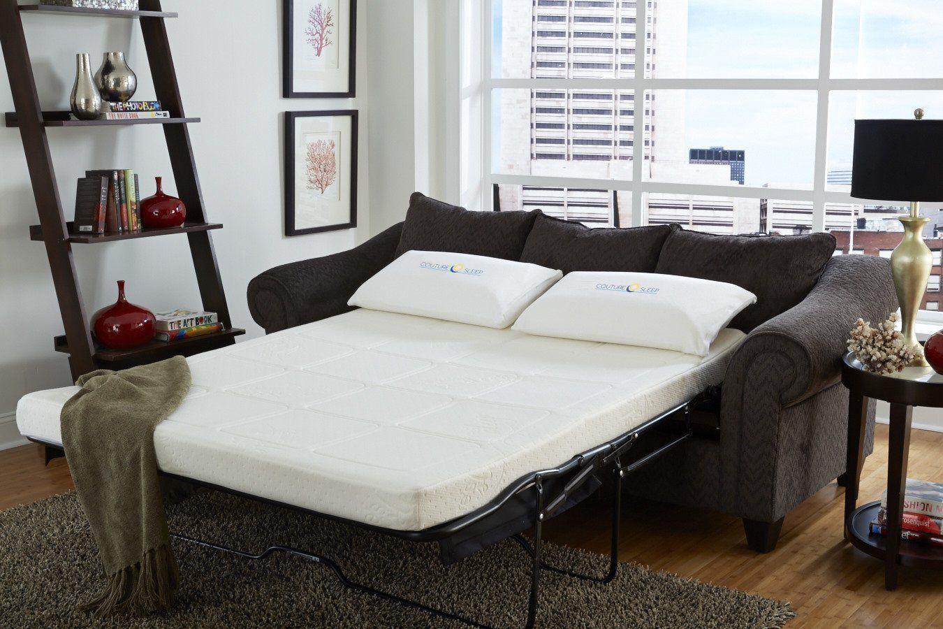CoutureSleep New Gel Memory Foam Sofabed Sleeper mattress