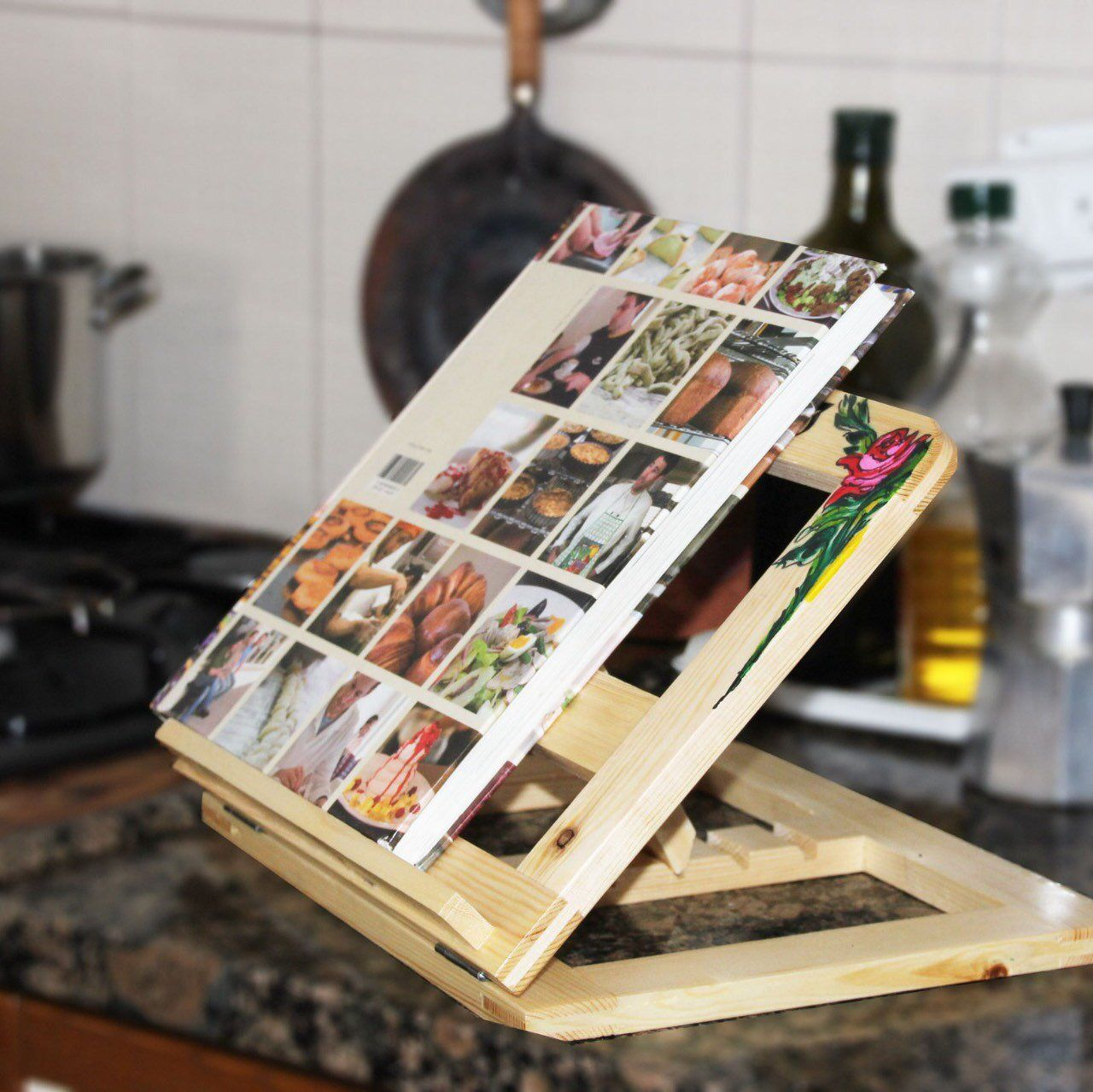 Personalized Cook Book Holder Great Gift Idea Cookbook Holder Book Stands Cookbook Holder Book Stands