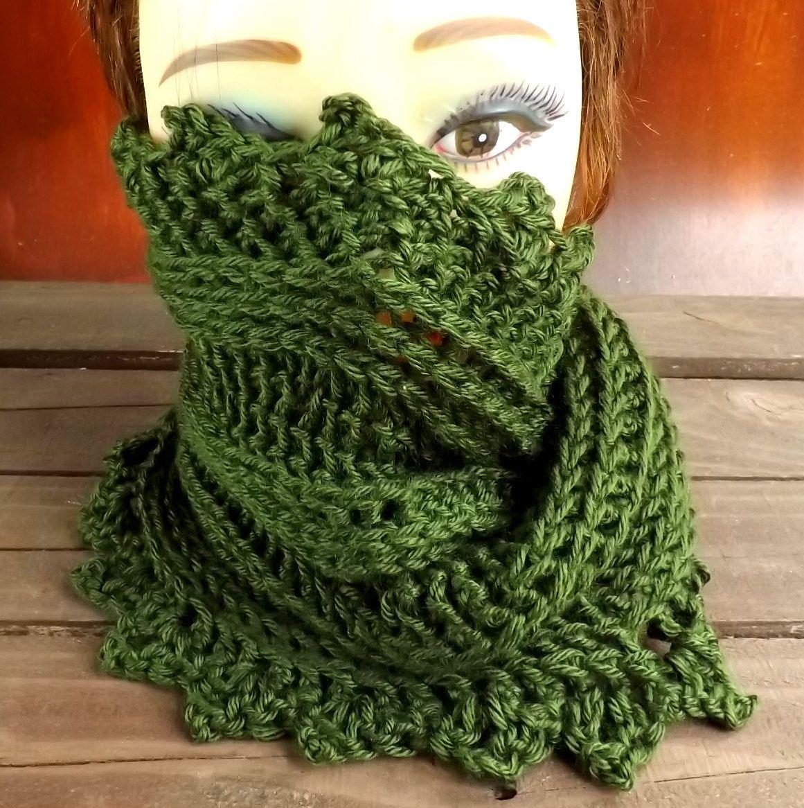 Crochet Pattern, Crochet Scarf Pattern, Crochet Cowl Pattern, PDF ...