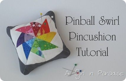 Pinball Swirl Pincushion Tutorial Projets De Couture Couture Biscornus