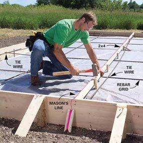 How To Form And Pour A Concrete Slab Concrete Slab Concrete Diy Concrete