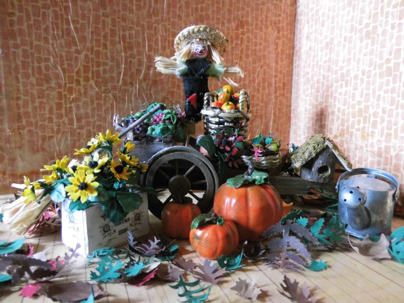 Herbstszene 'Erntedank' für die Puppenstube