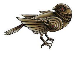 Steampunk Bird Tattoo Drawings Deviantart More Like Clockwork Bird Model No 57 By Haz Elf