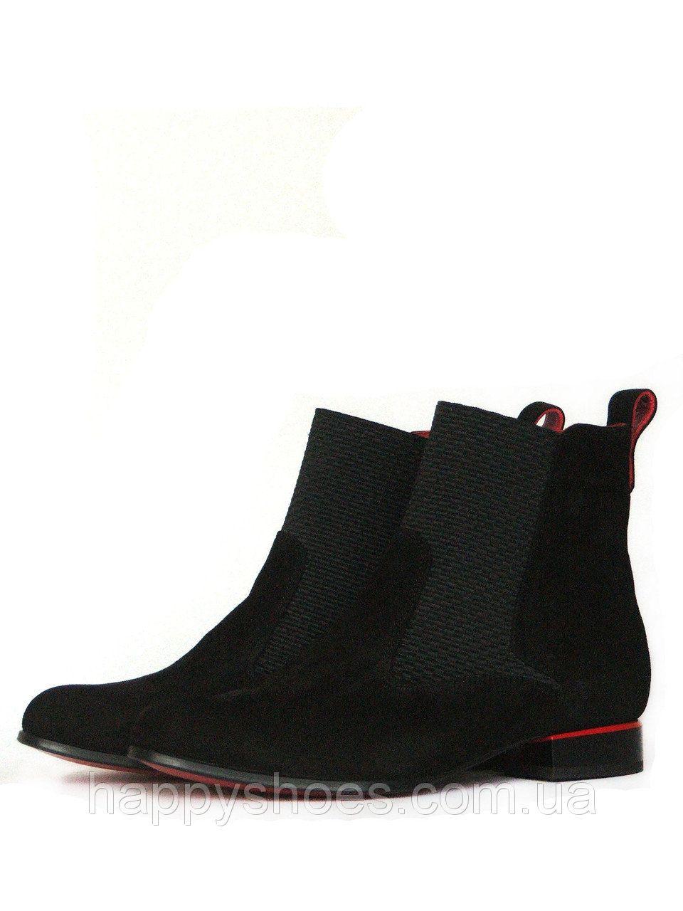 0d25218aa Купить Черные замшевые ботинки женские в Запорожье от компании