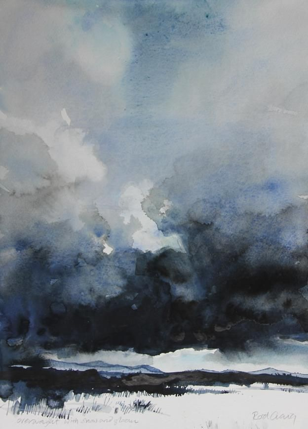 Rod Craig On In 2020 Watercolor Clouds Watercolor Sky Sky Painting