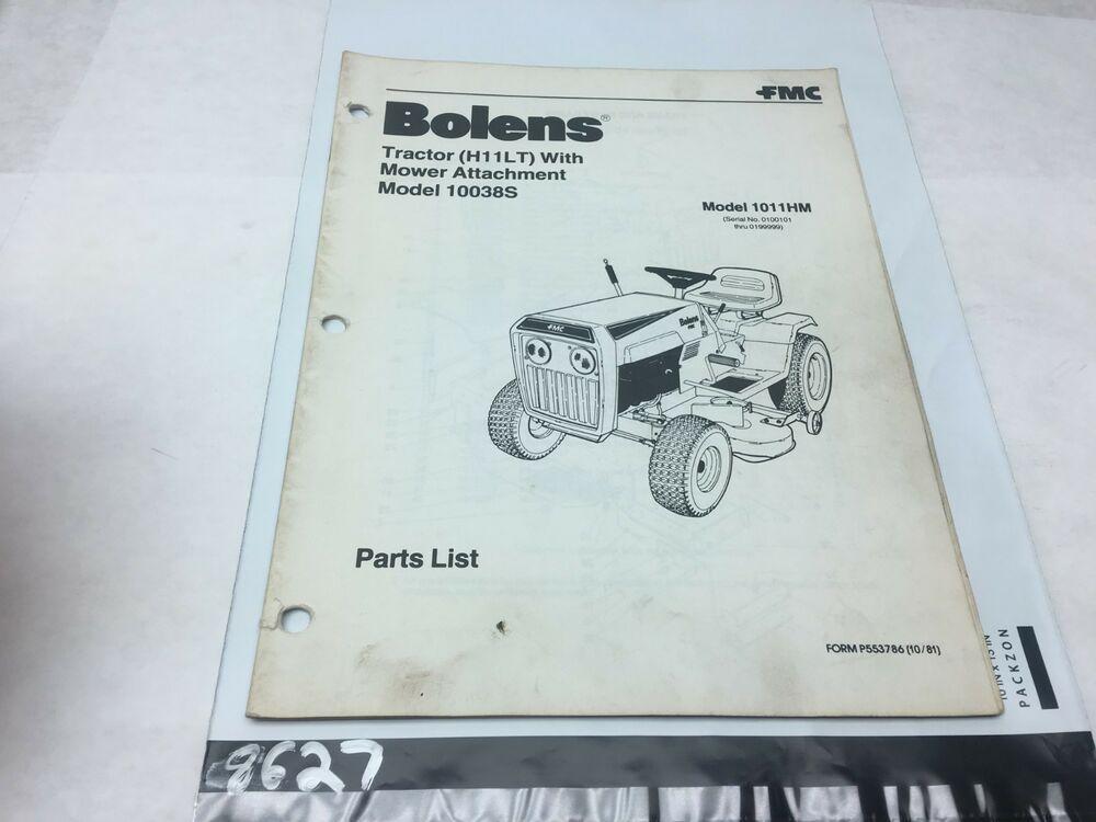 Bolens Tractor Model 1011HM Parts Catalog #Bolens | Gt