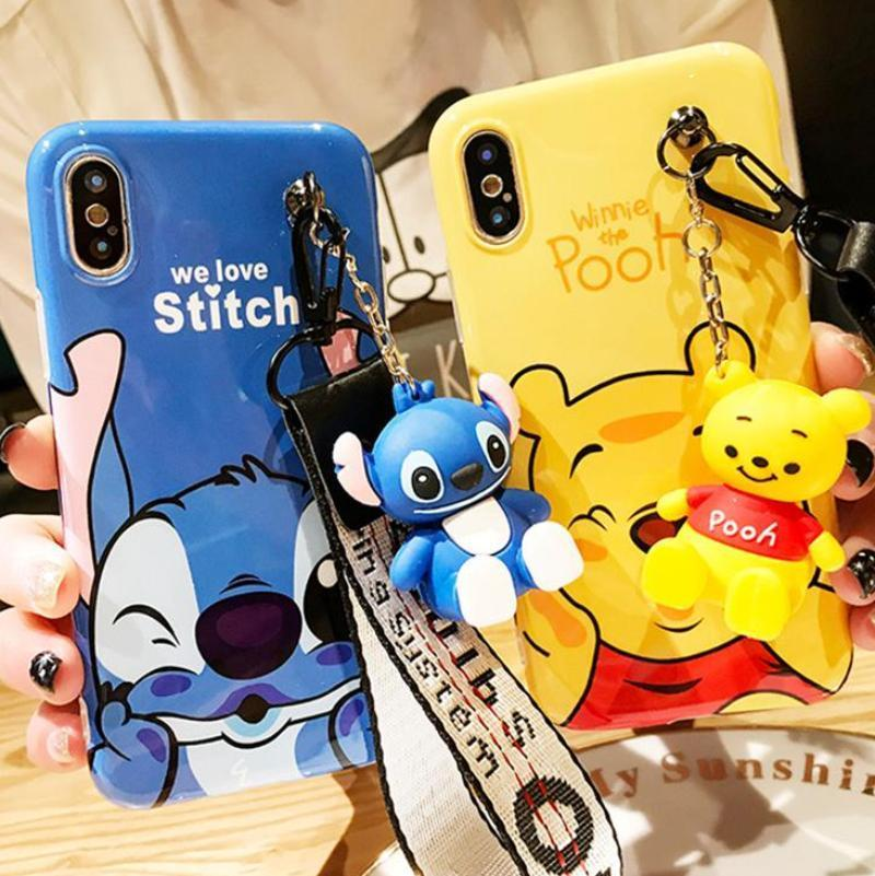 Pooh Stitch Phone Case Android Iphone Disney Phone Cases Cute Phone Cases Silicone Iphone Cases