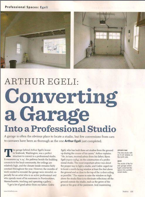 American Artist Converting A Garage Into Professional Studio Article