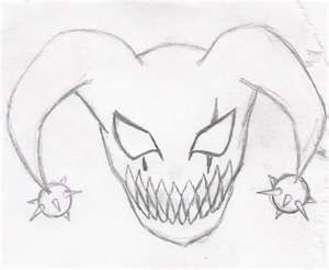 Image Result For Easy Evil Drawings Hahaha Mask Drawing