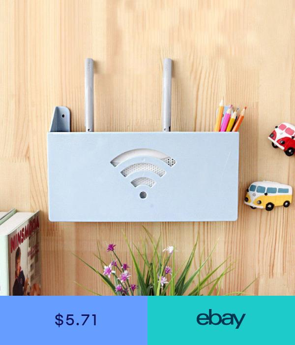 Hot Wireless Wifi Router Cover Storage Box Plastic Shelf Wall Hanging Decor Router Verstecken Wanddekoration Aufbewahrung Werkstatt