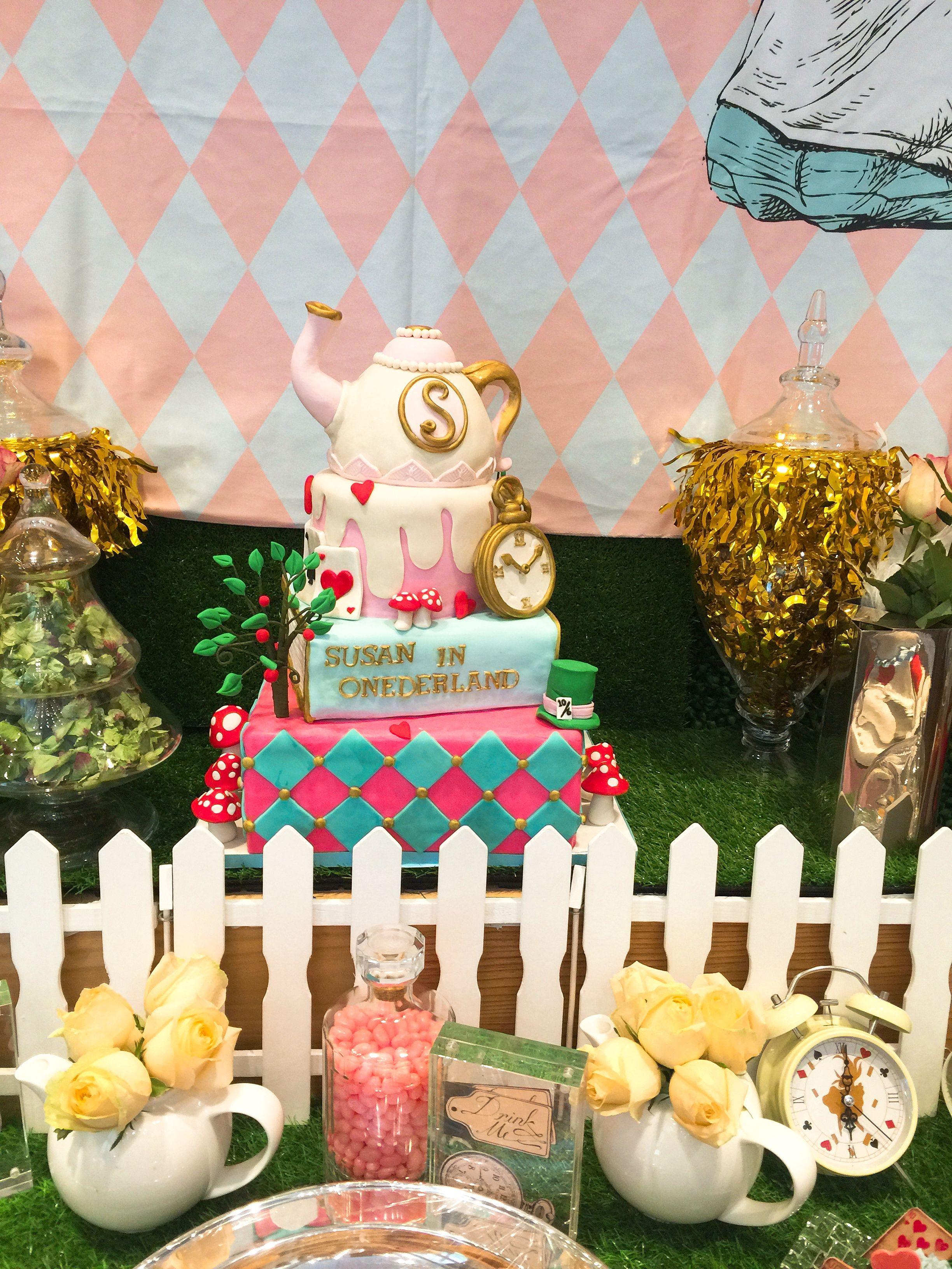 Alice in wonderland themed cake themed cakes cake