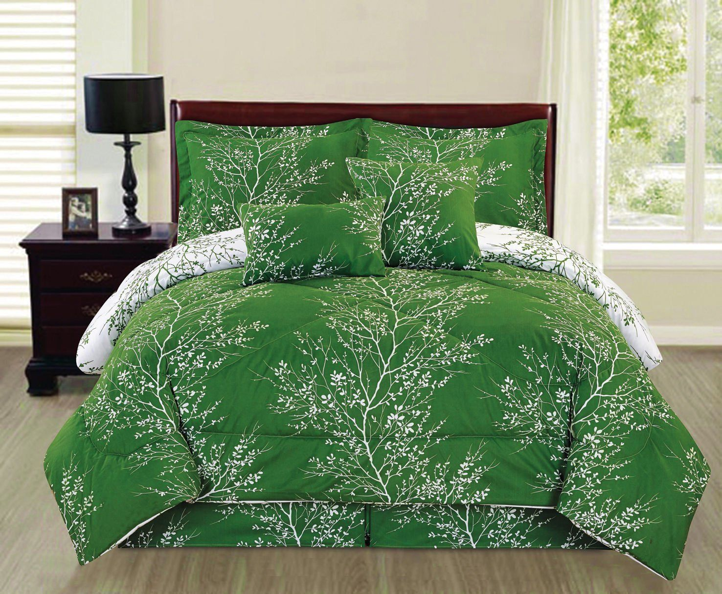 AmazonSmile Ace 6piece Reversible Soft Forest Green Tree