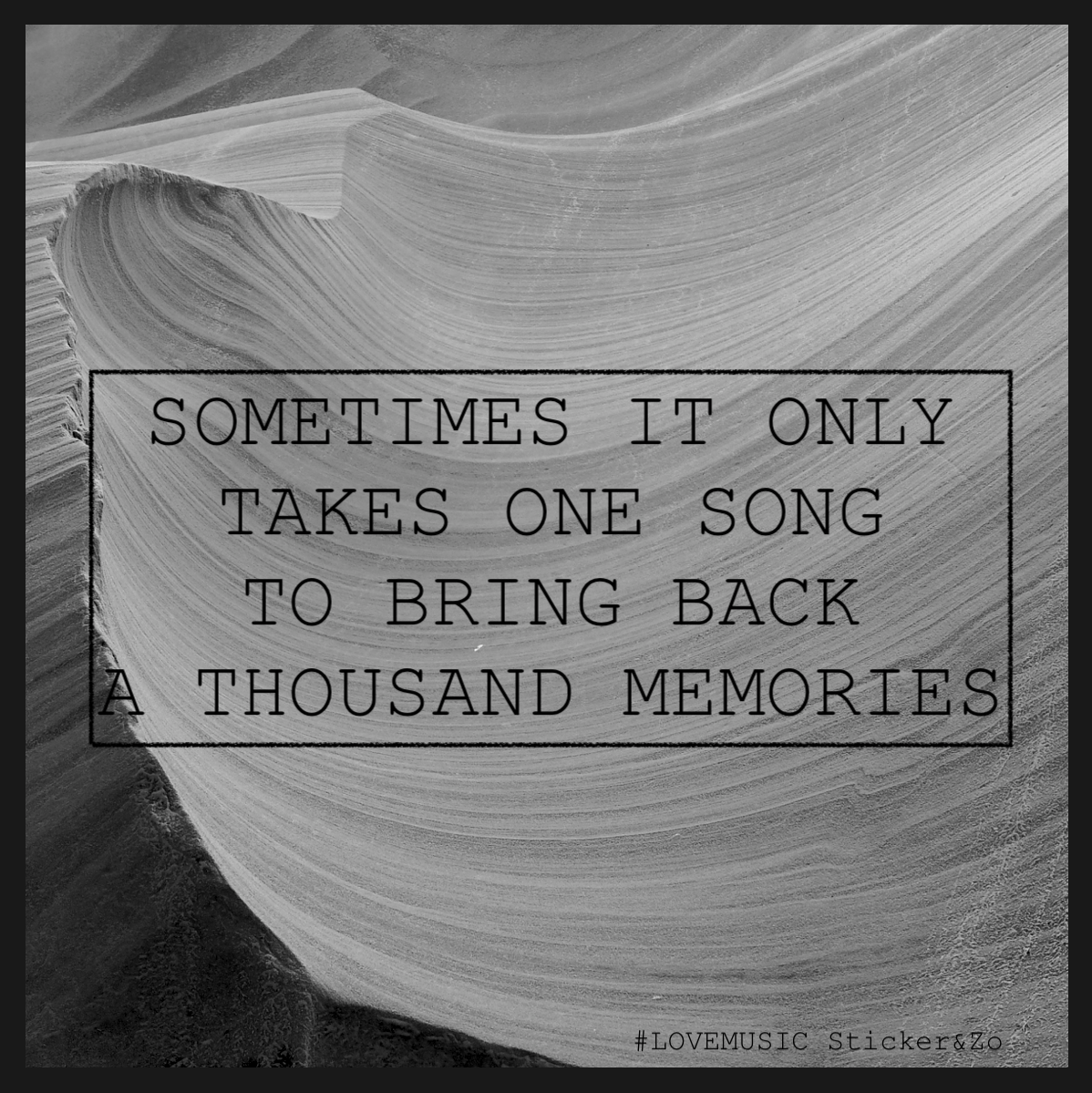 Www Stickerenzo Nl Quote Sometimes It Only Takes One Song To Bring Back A Thousand Memories Memories Quotes Songs Memories