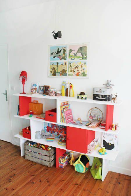 Bricolage maison  une étagère sur plusieurs niveaux - Tête d\u0027ange