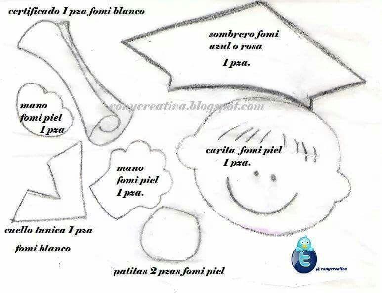 Moldes de fomi de niños graduados - Imagui | muestras | Pinterest | Ps