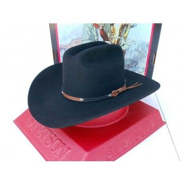 a912fc8d8f51 Stetson Cowboy Hat 4X Beaver Fur Felt Grant Black | Cowboy Hats ...