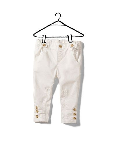 stretch twill trousers - Trousers - Baby girl (3-36 months) - Kids - ZARA