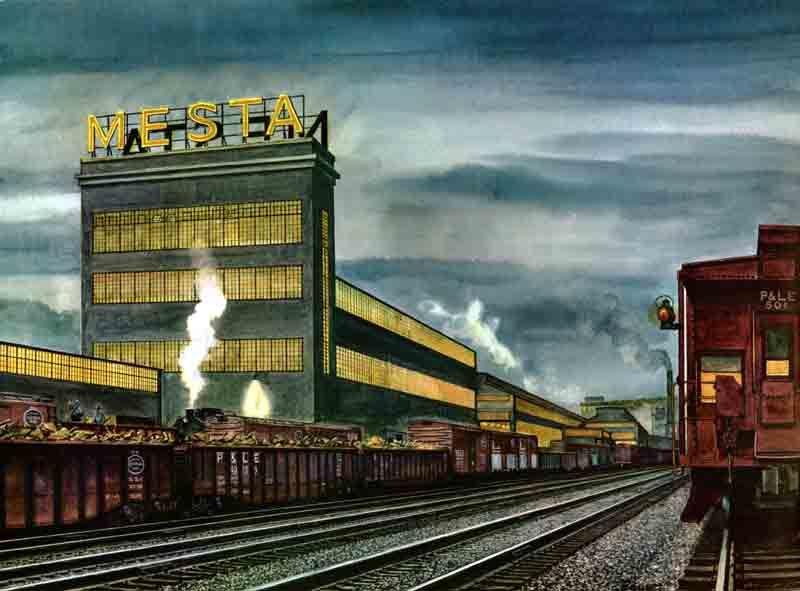 Mesta Machine Company, Homestead, PA  (Painting by Howard
