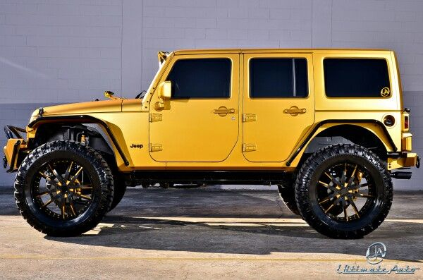 Gold Jeep Dream Cars Jeep Matte Jeep Wrangler Yellow Jeep Wrangler