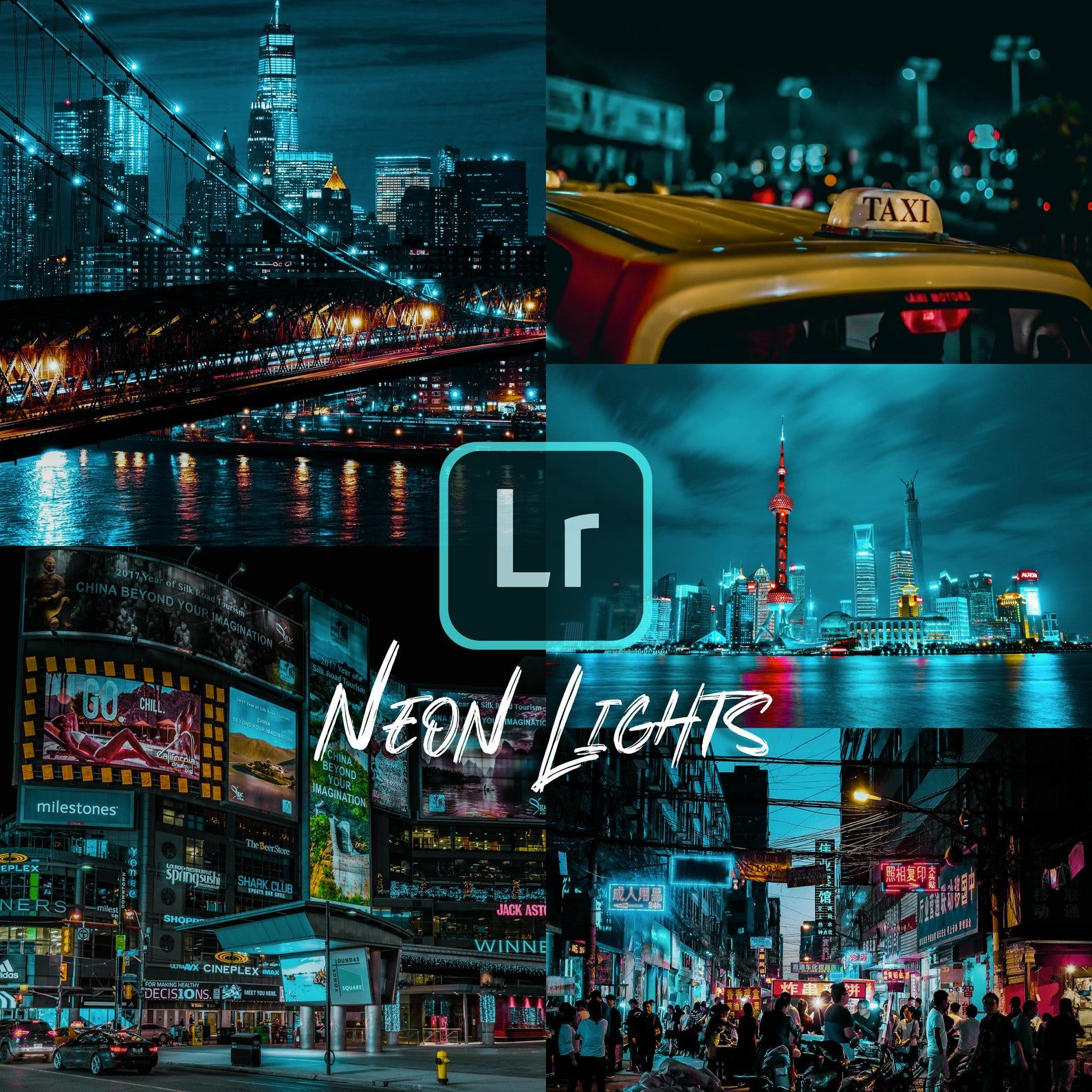 Mobile & Desktop Lightroom Preset NEON LIGHTS Instagram