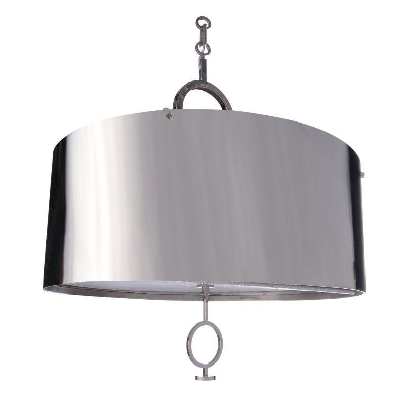 Chrome lamp shade chandelier bar mitzvah chrome shade these are great over a bar via giannaandcompany aloadofball Gallery