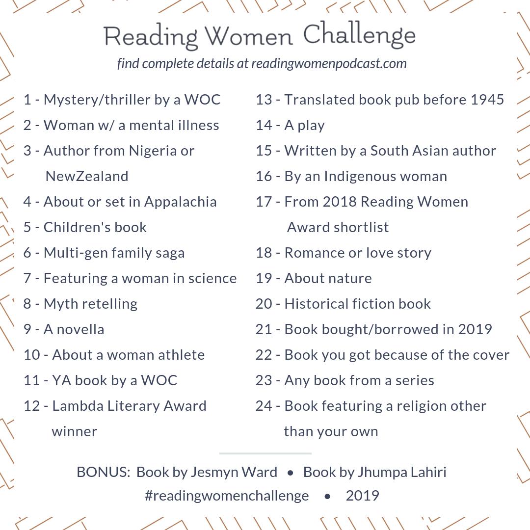 Reading Women's 2019 Reading Challenge | books in 2019 | Reading ...