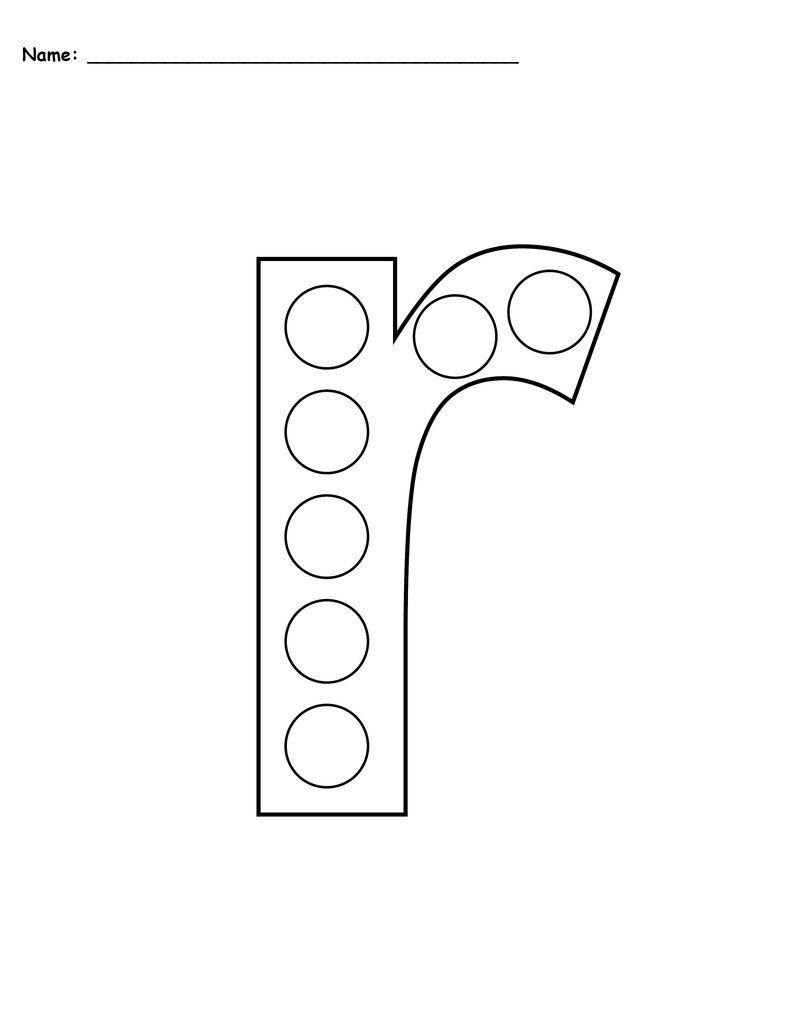 Letter R Do A Dot Printables Uppercase Lowercase Do A Dot Letter R Letter R Crafts [ 1024 x 791 Pixel ]