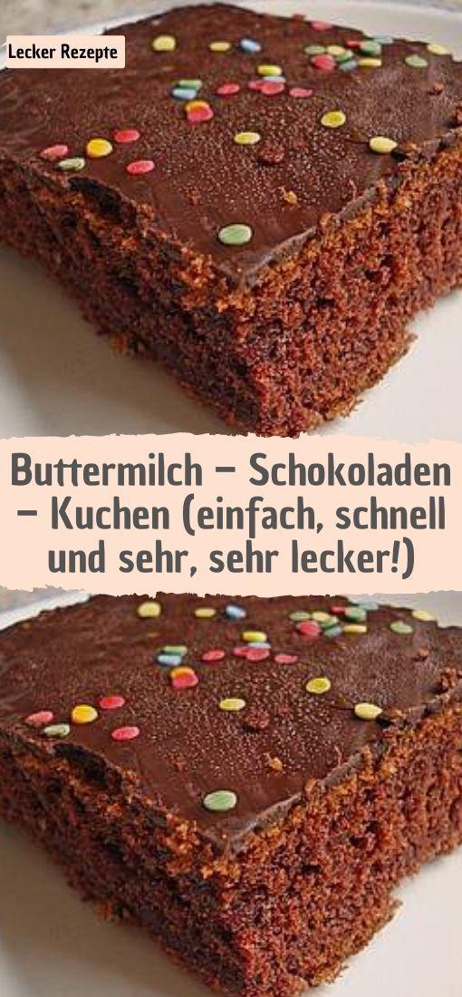 Buttermilch – Schokoladen – Kuchen (einfach, schnell und sehr, sehr lecker!)  – Rezepte