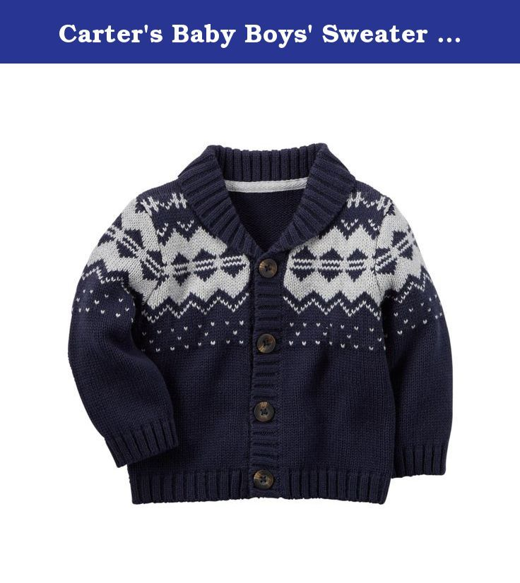 Carter's Baby Boys' Sweater (Baby) - Navy Fairisle - 24 Months ...
