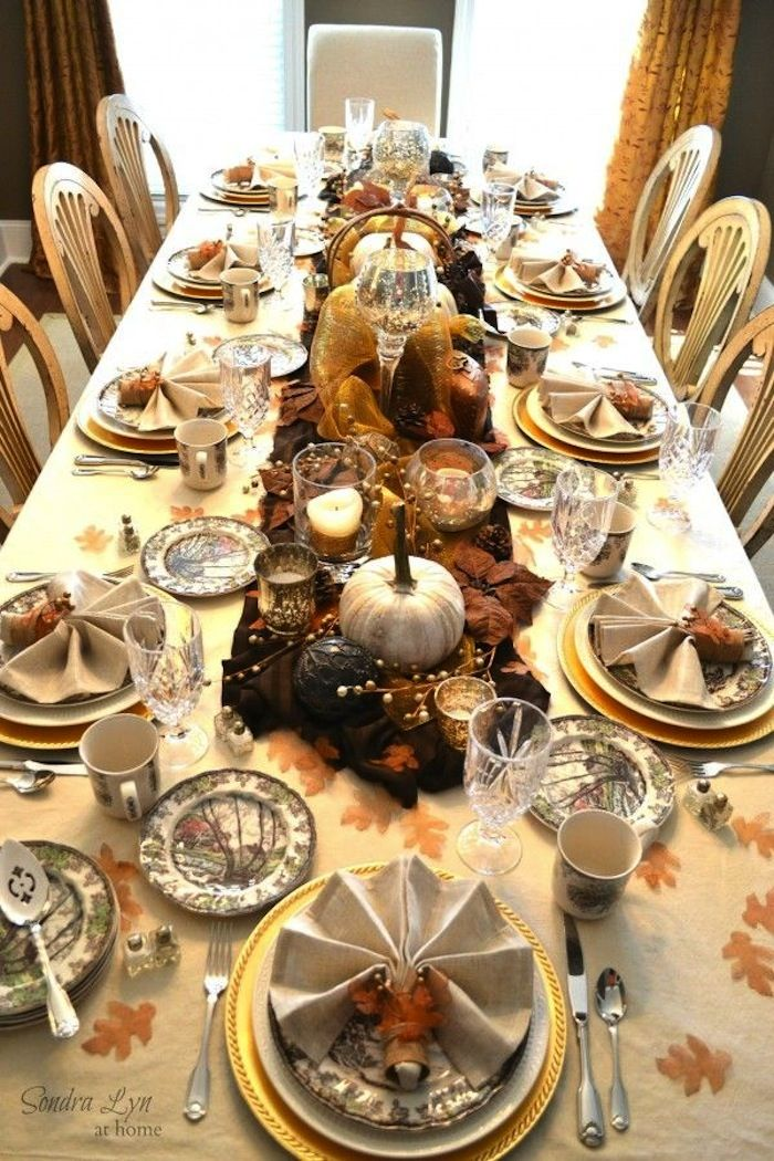 20 thanksgiving dining table setting ideas thanksgiving - Thanksgiving dinner table decorations ...