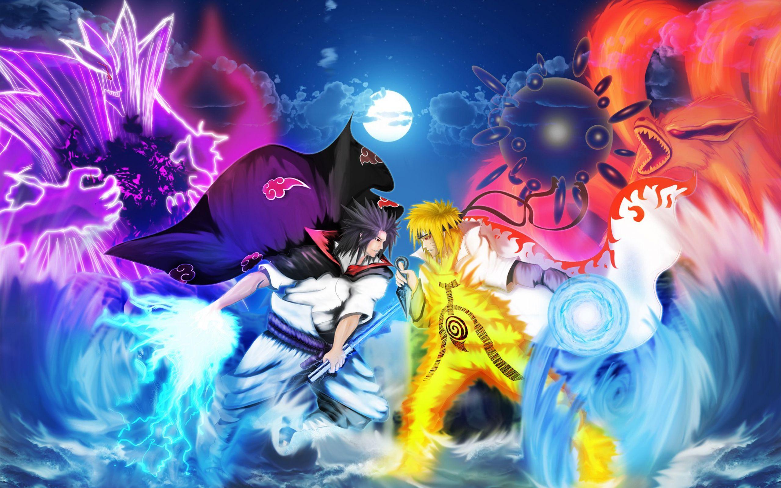 Anime Naruto Vs Sasuke WallPaper HD