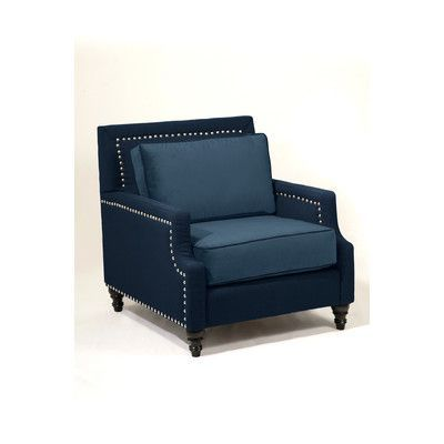 Loni M Designs Madrid Arm Chair Color: Navy
