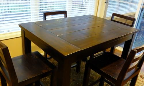 Ana White Free And Easy Diy Furniture Plans To Save You Money Bar Height Kitchen Table Tall Kitchen Table Small Kitchen Tables