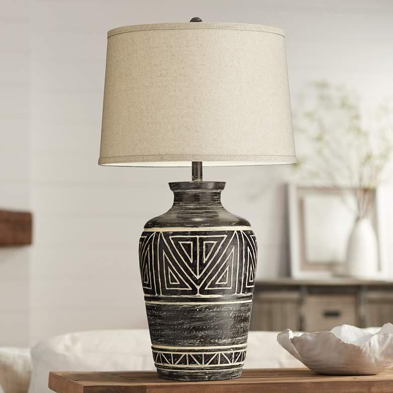 Miguel Earth Tone Southwest Rustic Jar Table Lamp 72m43 Lamps Plus Jar Table Lamp Earth Tone Decor Lamp