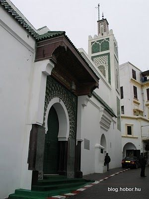 Beautiful hotel facade in tangier morocco tangier a - Moroccan port on the strait of gibraltar ...