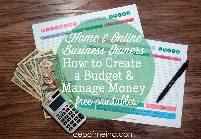 home online business owners how to create a budget manage
