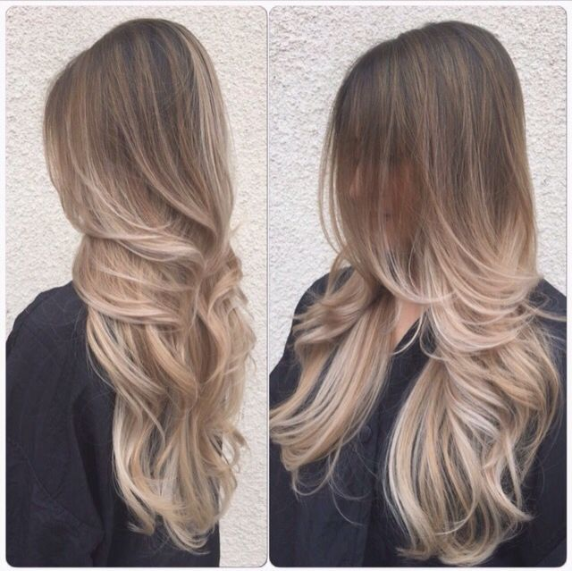 Ashy Ombre New Hair Haare Balayage Blonde Haare Frisur Ideen