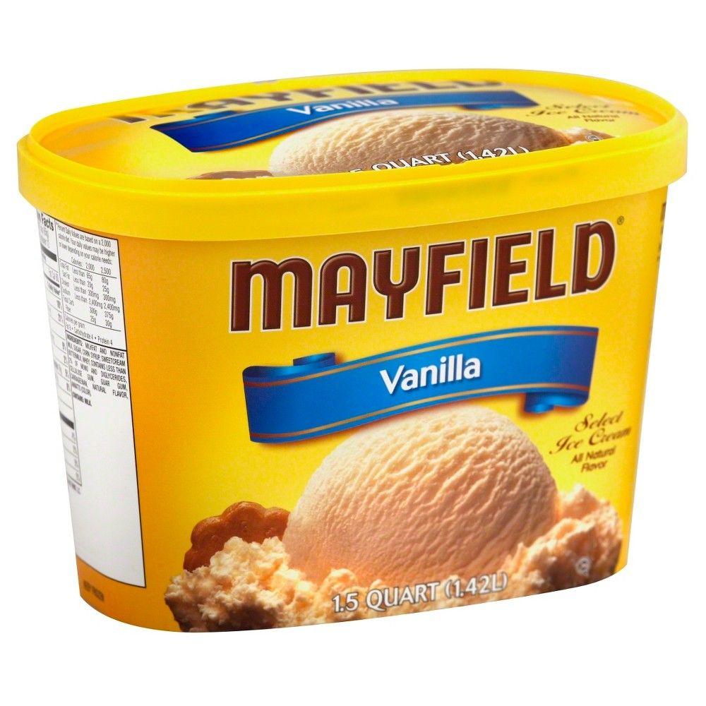 Mayfield Vanilla Ice Cream 1.5qt in 2020 Vanilla ice