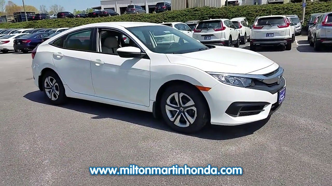 NEW 2018 Honda CIVIC LX CVT at Milton Martin Honda NEW